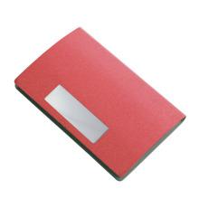 Titular do cartão de identificação de negócios de couro PU de design de alta qualidade personalizado