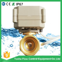 "2 Way Dn15 1/2"" 5V Motorized Motor Operated Ball Valves Mini Electric Valve"