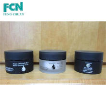 1oz cosmetic packaging sample black acrylic cosmetic small cream jar