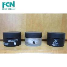 1 oz embalagem de cosméticos amostra preto acrílico cosméticos pequeno creme jar