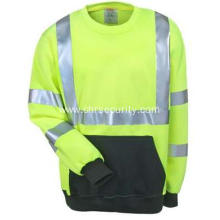 Men's Lime Green High-Visibility Work Sweatshirt