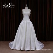Vestido de casamento de Mikado tecido floral Shouldr
