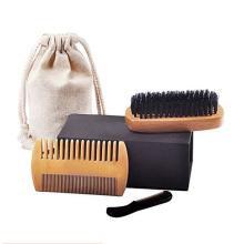 Ensemble de peigne à barbe en bois Amazon OEM