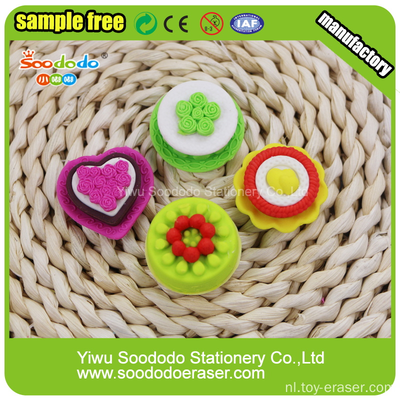 Yellow Cake Shaped Potlood Topper Eraser