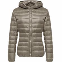 Long Ladies Warm Duck Parka Mulheres jaqueta