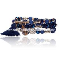 Nuevos productos accesorios estilo mixto moda 2016 pulsera de piedra natural de cristal