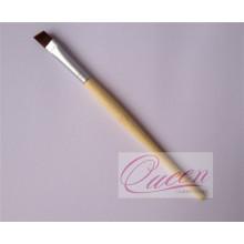 Cepillo anguloso de maquillaje delineador con mango de bambú