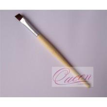 Angled Eyeliner Makeup Brush with Bamboo Handle