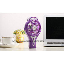 Ventilateur portatif mini atomiseur USB de charge avec 3 niveaux de vitesse-violet