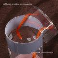 PET tubos de cilindro transparente com impressão (caixa redonda de plástico)