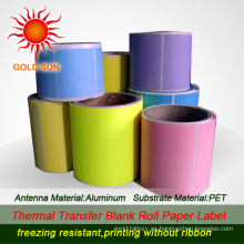 Papel de etiqueta térmica de color (TPL-011)
