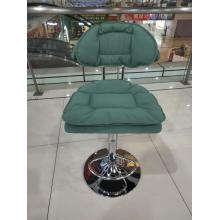 Модный современный регулируемый поворотный барный стул со спинкой