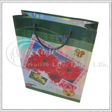 Flower Design Paper Bag for Gift Shopping (KG-PB016)