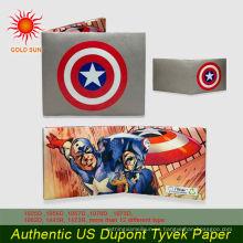 Billetera de papel tyvek promocional personalizado