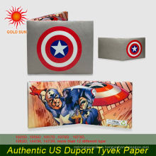Customized promotional tyvek paper wallet