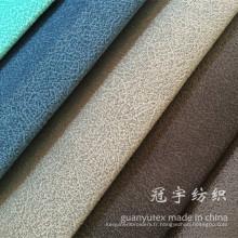 Tissu de velours côtelé composé de nylon et polyester pour l'intérieur