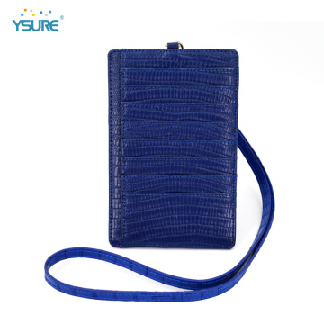 Leather Wallet Credit Card Holder With Neck Lanyard