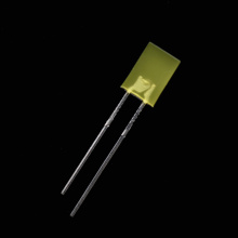 Diodo luminescente amarelo do diodo emissor de luz do retângulo de 2 × 5 × 7mm