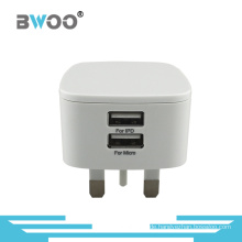 Heiß-Verkauf USB-Ladegerät UK-Wand-Adapter mit Dual-USB