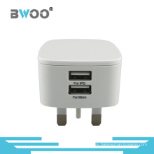Hot-Selling USB Charger UK Wall Adapter with Dual USB