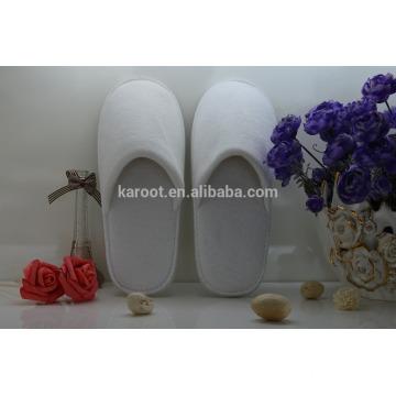 cheap soft personalized close toe velvet hotel slipper