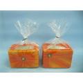 Pumpkin Candlestick Shape Ceramic Crafts (LOE2361-9z)