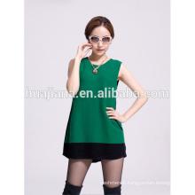 fashion women's cashmere knitting vest dress