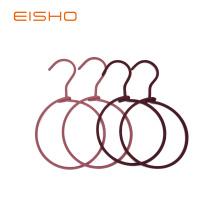 EISHO metal anéis corda cachecol cabides
