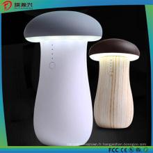 Nouvelle banque portative de puissance de champignon avec la lumière de chargeur de secours LED