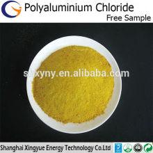 Pó amarelo 30% cloreto de polialumínio para tratamento de águas residuais