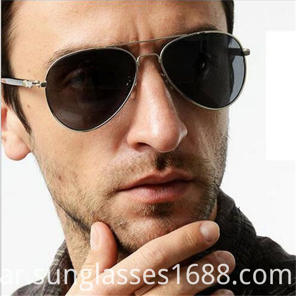 Round Metal Male Fashion Sunglasses Outdoor