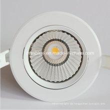 18W weißes Gehäuse CREE / Epistar COB LED unten Licht