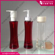 Unique Red PET Waist Empty Shampoo Bottle