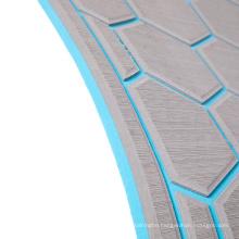 anti skid adhesive back glue hexagon honeycomb blue and grey  marine flooring  eva foam boat yacht floor