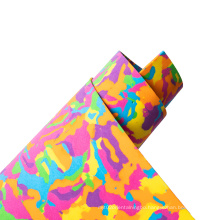 non toxic factory price thick and soft assorted colorful eco- friendly goma sponge crafting  camouflage craft glitter foam sheet