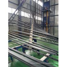 Tube en acier enduit de PVC de 6 mètres de long utilisé comme matériau de clôture