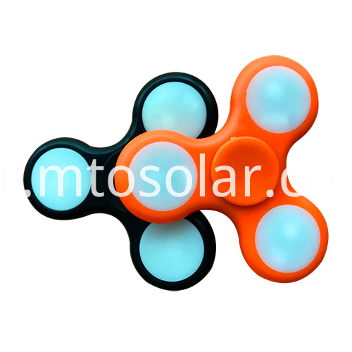 Triangle Gyro LED Light Flashing fingertip Fidget spinning top