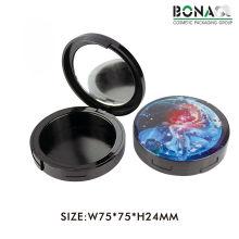 12g Nueva caja negra vacía del envase del polvo compacto