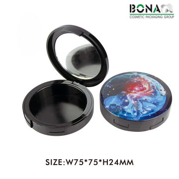 12g New Empty Black Compact Powder Container Case