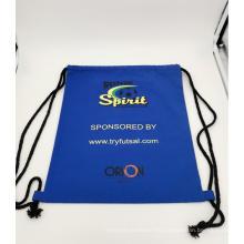 bolsa de deporte de lona personalizada con mochila con cordón