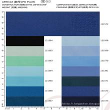 tissu de mode tissu 100% coton pour la chemise de robe des hommes chinois fournisseur