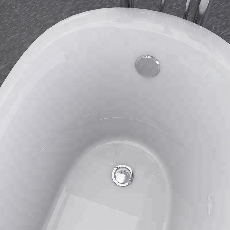 Black Freestanding Bathtub 1600mm
