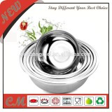 Round shape soup basin stainless steel tableware