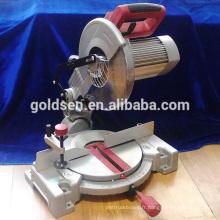 255mm 1800w Low Noise Electric Power Coupe en bois en aluminium Cut Off Table Machines à outils circulaires Silent Compound Miter Saw