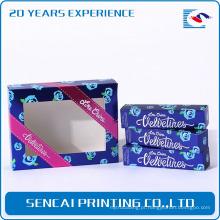 Amostra grátis personalizado cor caixa de papel cosmético com janela