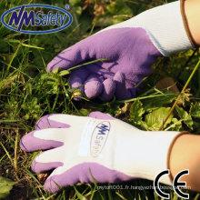 NMSAFETY gants en latex pas cher / gants en latex avec design / gants en latex violet