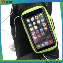 Bandes de poignet en silicone pour sports de plein air pour téléphone mobile