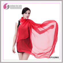 Ladies Fashionable Scarf Candy Color Imitated Silk Scarf (SNSJ001)