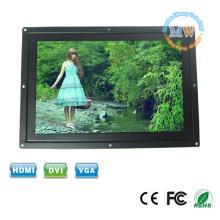 Rétro-éclairé sur grand écran 12 pouces 16:9 châssis ouvert écran LCD LED avec entrée VGA