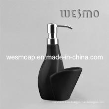 Único y simple dispensador de jabón de porcelana estilo (wbc0602a)